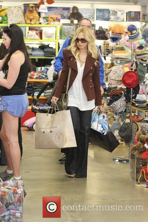 Celebrity fashion stylist Rachel Zoe goes shopping on...