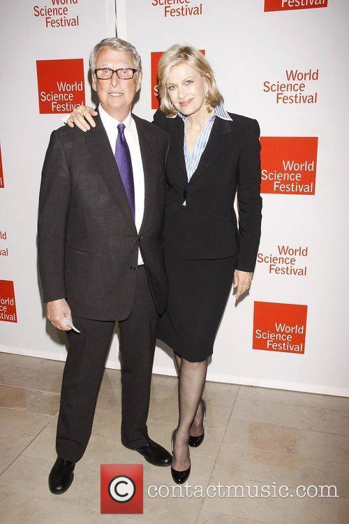 Mike Nichols and Diane Sawyer  Opening night...