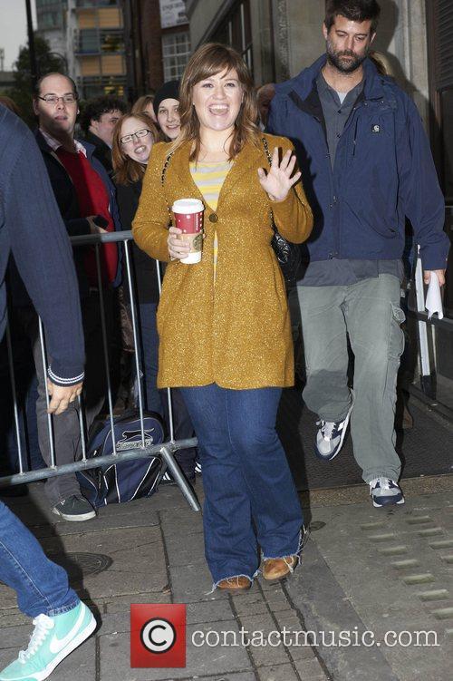 Kelly Clarkson at the BBC Radio 1 studios...