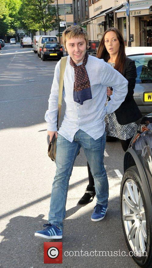 James Buckley at the BBC Radio 1 studios...