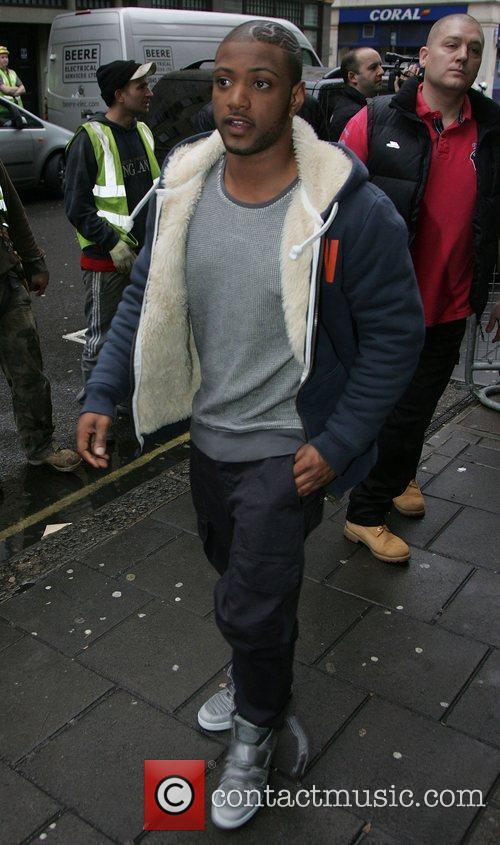 Jonathan Gill aka JB of JLS Celebrities outside...