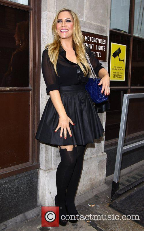 Heidi Range of the Sugababes at the BBC...