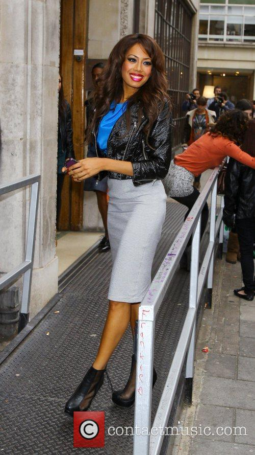 Jade Ewen of Sugababes at the BBC Radio...