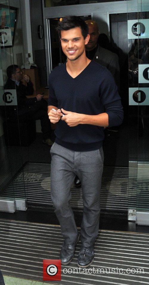 Taylor Lautner  leaves the BBC Radio 1...