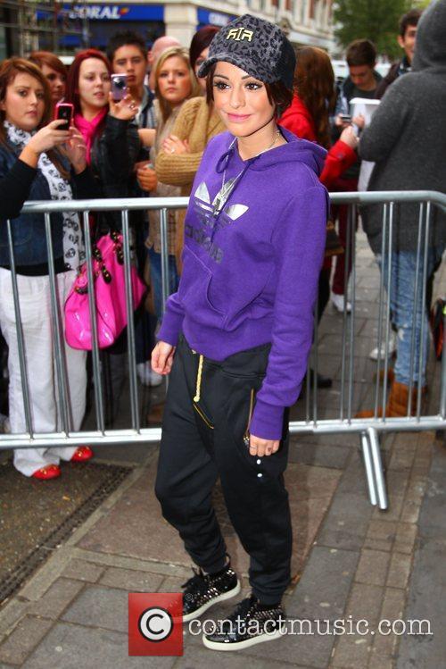 Cher Lloyd arrives at the BBC Radio 1...