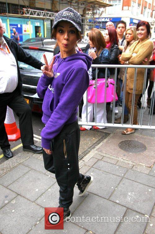 Cher Lloyd arrives at the BBC Radio 1...