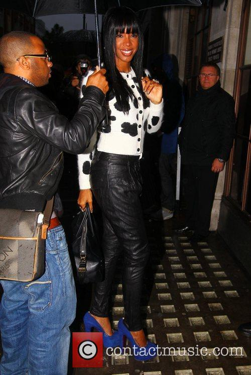 'X Factor' judge Kelly Rowland arriving at the...