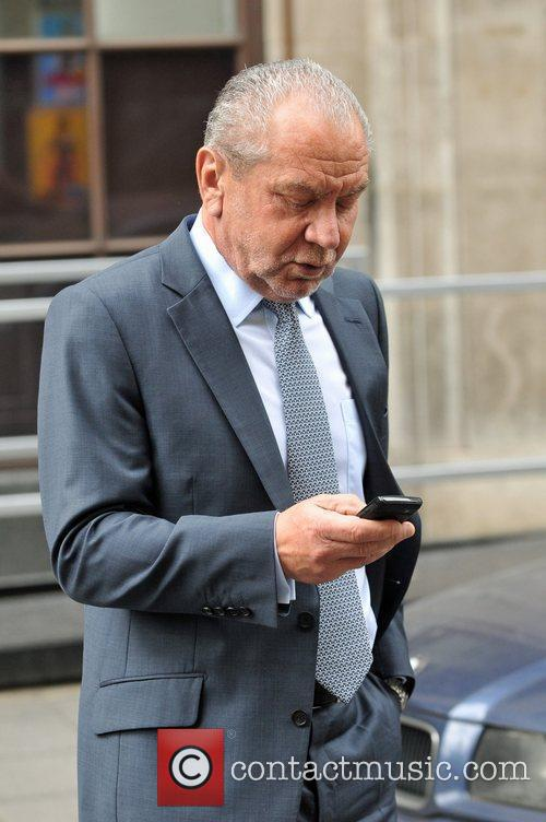 Alan Sugar leaving the BBC Radio 1 studios...