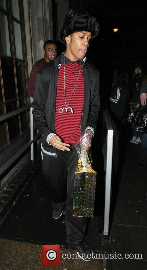 Leaves the BBC Radio 1 studios after attending...