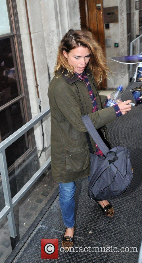 Billie Piper at the BBC Radio 1 studios...