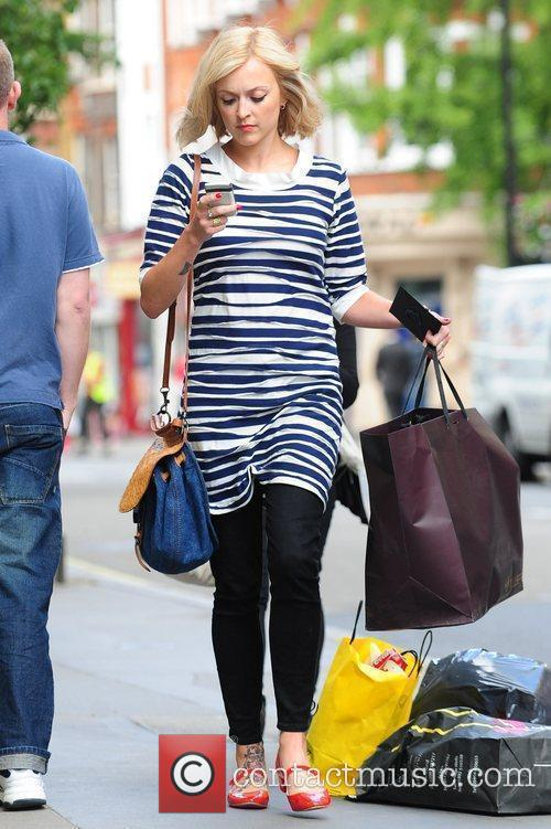 Fearne Cotton leaving the BBC Radio 1 studios...