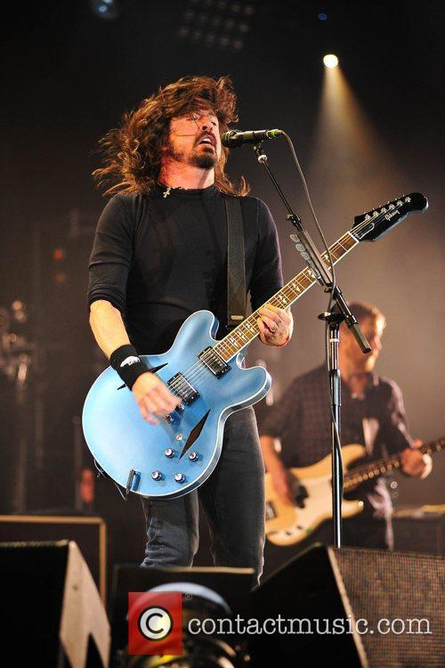 Dave Grohl Foo Fighters perform during BBC Radio...