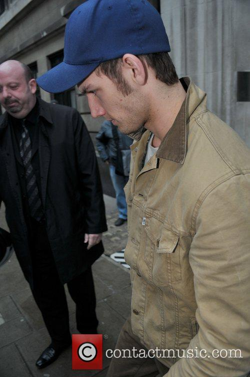 Alex Pettyfer leaving the BBC Radio 2 studios...