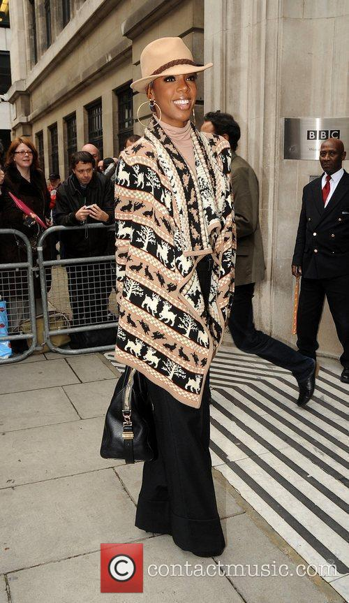 Kelly Rowland at the BBC Radio 2 studios...