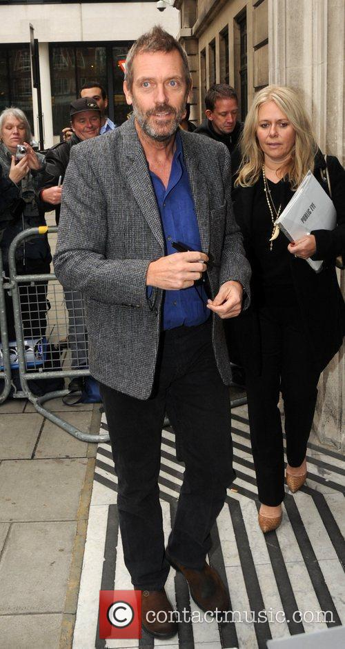 hugh laurie outside the bbc radio 2 3625578