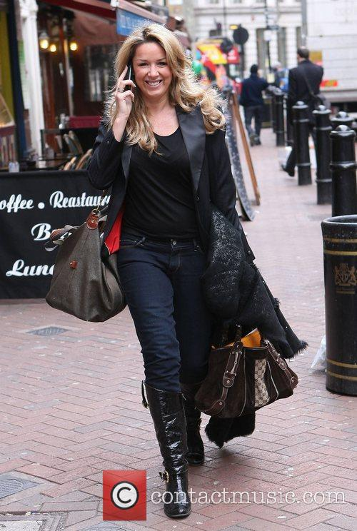 Claire Sweeney leaving the Heart FM studios London,...