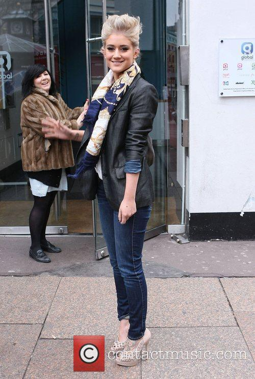 Katie Waissel leaving the Heart FM studios London,...