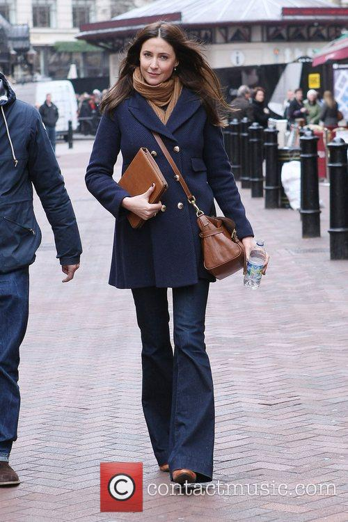 Lisa Snowdon leaving the Capital Radio studios London,...