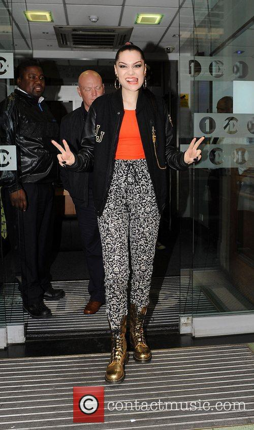 Jessie J leaving the BBC Radio One studios...