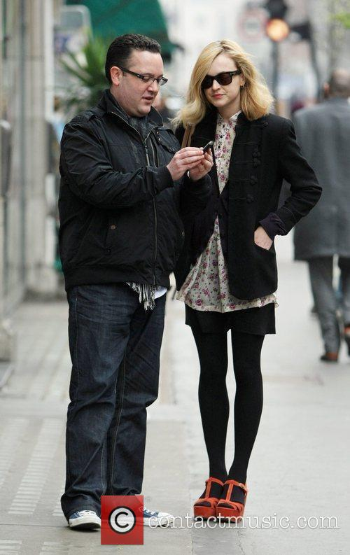 Fearne Cotton stops to have her photo taken...