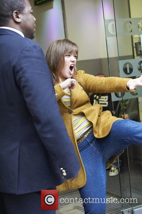 Kelly Clarkson Celebrities outside the BBC Radio 1...