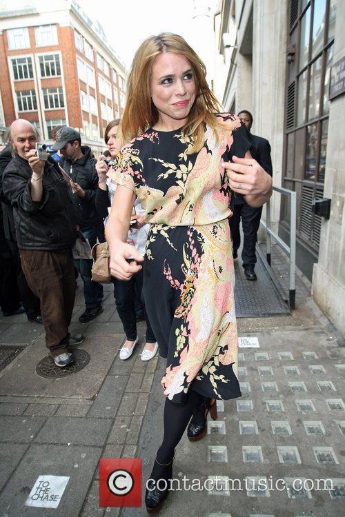 Billie Piper wearing a Peekaboo Vintage dress outside...