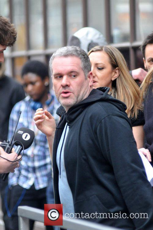 Outside the BBC Radio One studios as he...