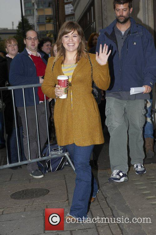 Celebrities outside the BBC Radio 1 studios