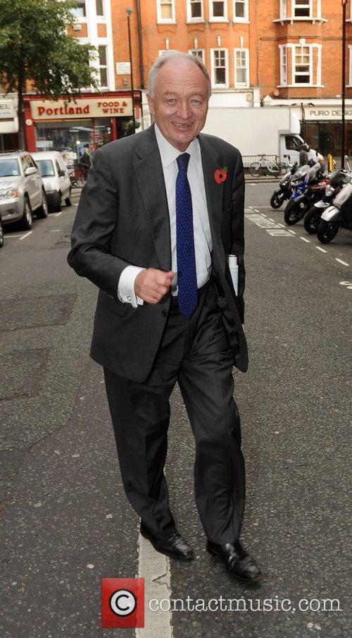 Ken Livingstone outside the BBC Radio 2 studios...