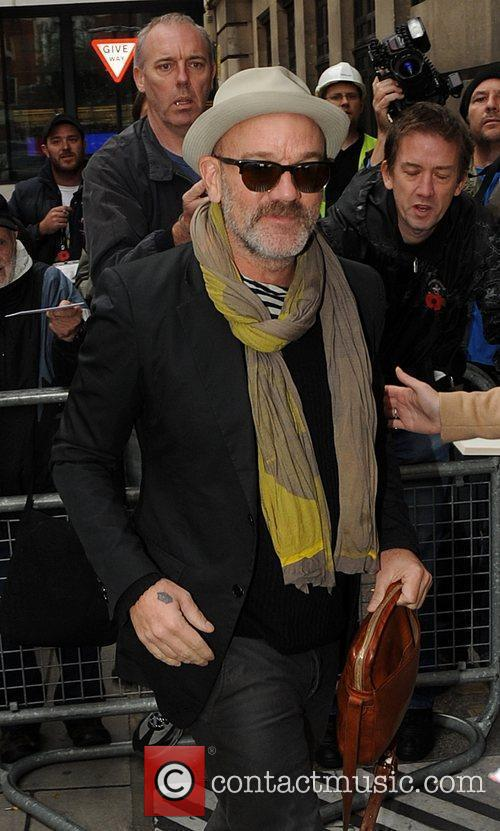 Michael Stipe outside the BBC Radio 2 studios...