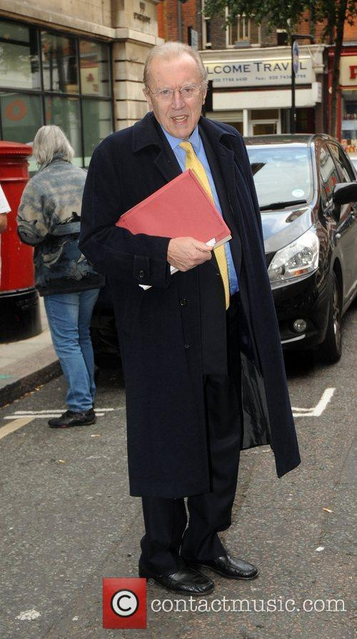 Sir David Frost outside the BBC Radio 2...