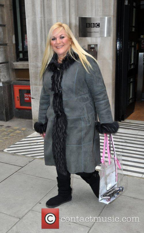 Vanessa Feltz   outside the BBC radio...