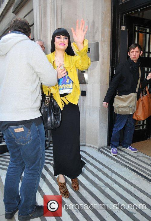 Jessie J at the BBC Radio 2 studios...
