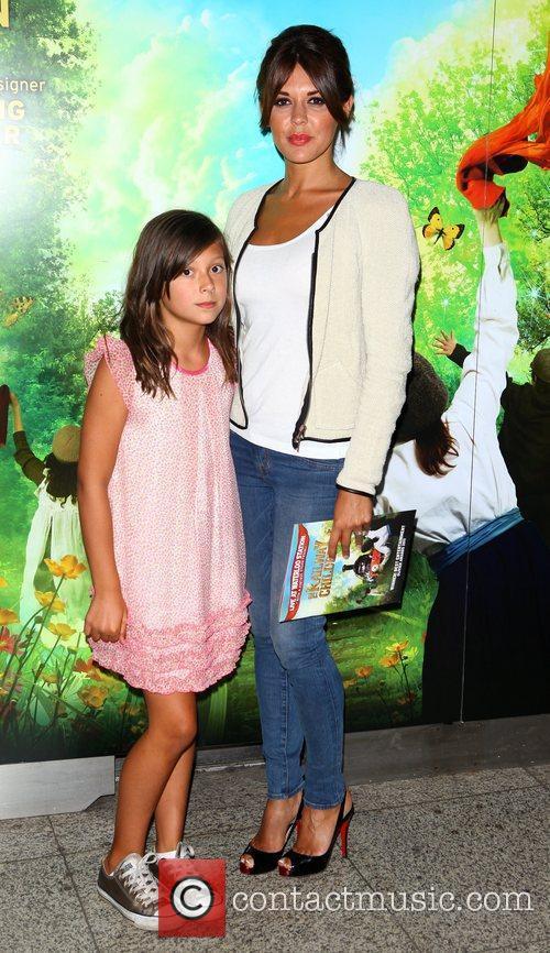 Danielle Lineker and daughter Ella Willis  arriving...