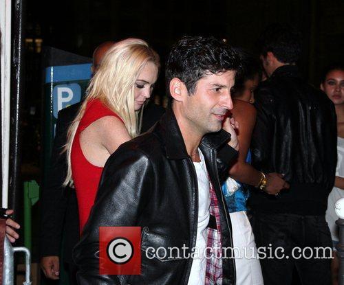 Lindsay Lohan leaving Raspoutine nightclub with Paris club...