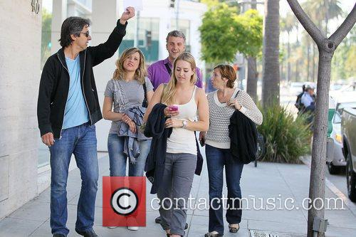 Ray Romano and his family leave the Paley...