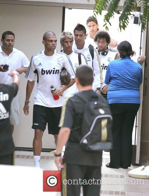 Pepe, Fabio Coentrao and Cristiano Ronaldo Real Madrid...