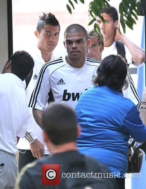 Cristiano Ronaldo and Pepe Real Madrid players and...