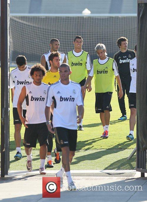 Cristiano Ronaldo and team-mates  Real Madrid players...