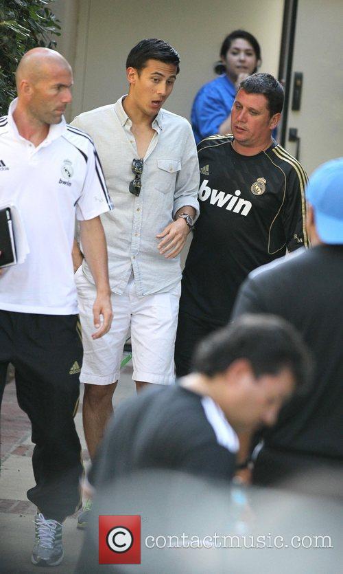 Zinedine Zidane Real Madrid players and coaching staff...