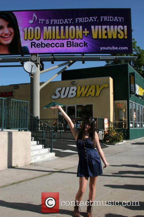 Rebecca Black attends the unveiling of the digital...