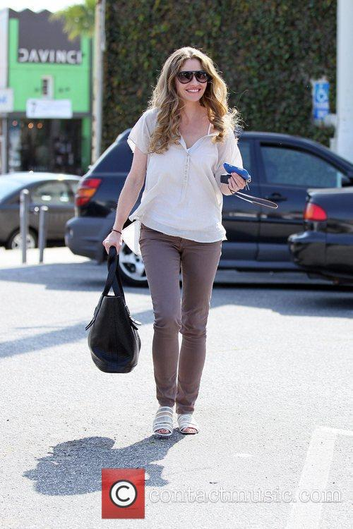 Departs Kings Road Cafe after having lunch with...