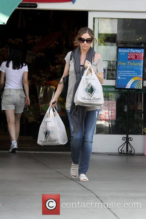 Rebecca Gayheart leaving Bristol Farmers Market after shopping...