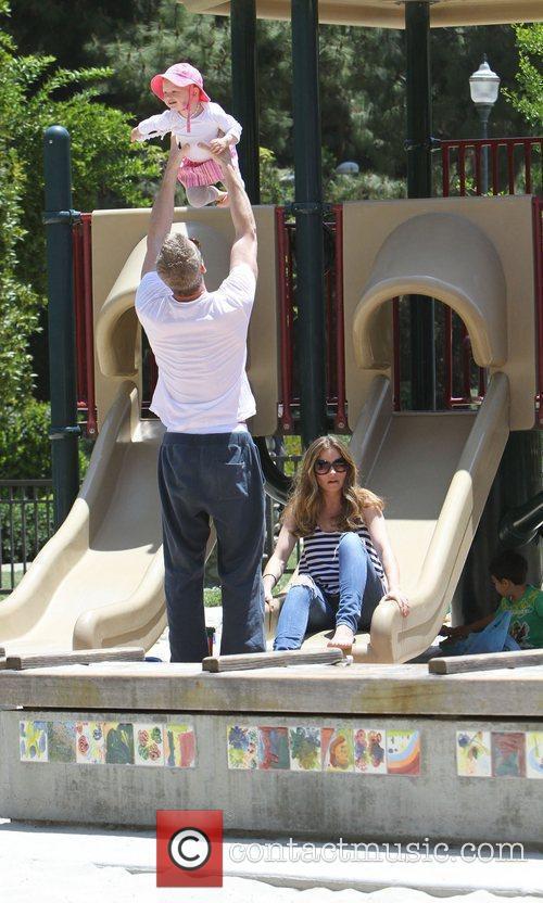 Rebecca Gayheart, Eric Dane and their daughter Billie...