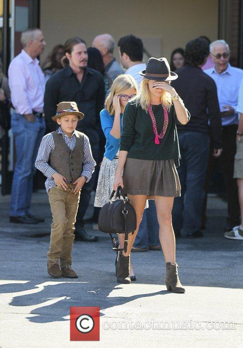 Reese Witherspoon, daughter Ava and son Deacon exit...