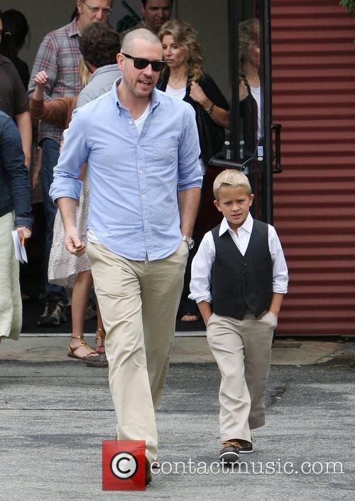Jim Toth and Reece Witherspoon's son, Deacon, leaving...
