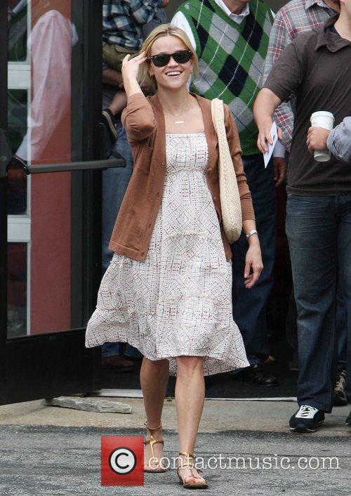Reece Witherspoon leaving church in Santa Monica Santa...