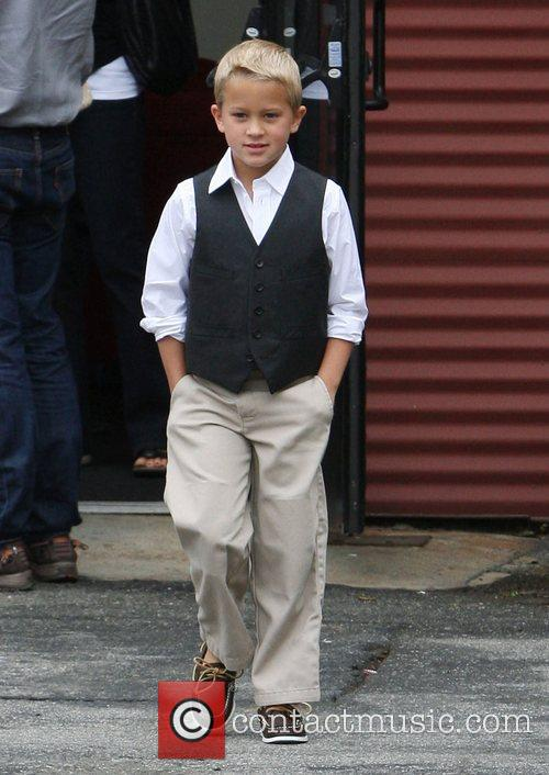 Reece Witherspoon's son, Deacon, leaving church in Santa...