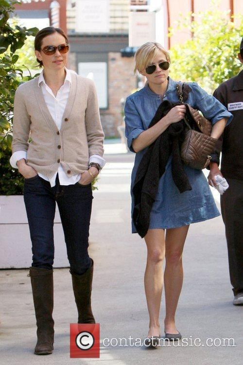 Reese Witherspoon and a friend out and about...
