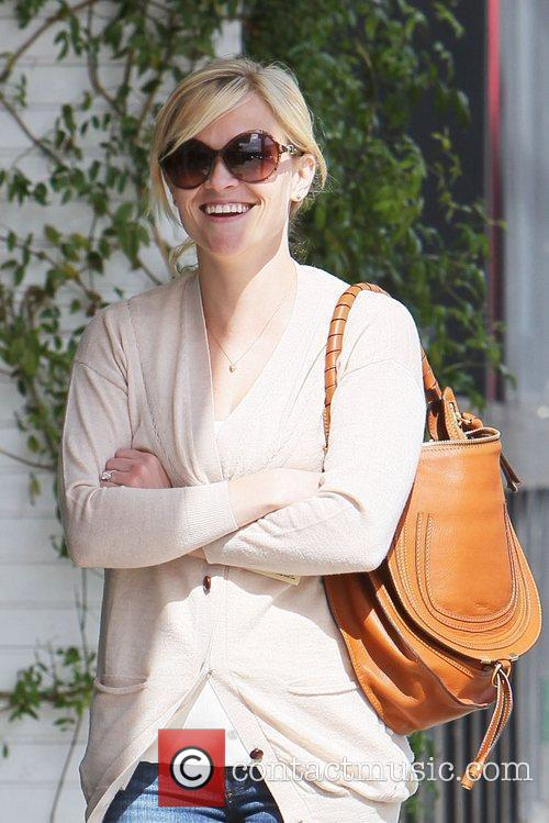 Reese Witherspoon leaving Comme Ca on Melrose Avenue...